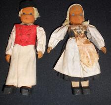 Pair of Lotte Sievers Hahn 1930's German Werkstadt Wooden Dolls