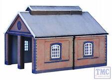 42-0001 Scenecraft N Gauge Two Road Brick Engine shed