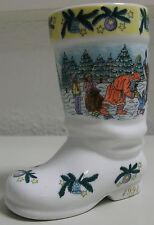 *Weihnachtssiefel Porzellan Bierstiefel 1994 Motive 2 lim. Edition Dorfweihnacht