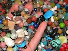 NEW 6/oz Semi-Precious, Gem, stone, agate Gemstone 6-15mm  MIXED LOOSE BEADS LOT