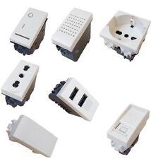 BTICINO LIVING LIGHT COMPATIBILE PRESA SCHUKO TV PULSANTE DEVIATORE USB