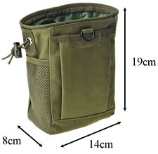 Ammo Dump Pouch Utility Bag Hunting Hiking Gun Sling Molle Tactical Army Green