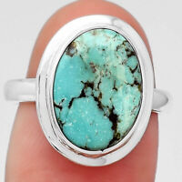 Natural Rare Turquoise Nevada Aztec Mt 925 Sterling Silver Ring s.7 Jewelry 6132