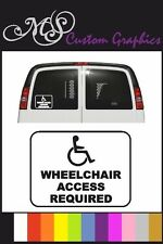 WHEELCHAIR ACCESS REQUIRED Car Sticker, Disabled, 12 Colours A5 Size 15cm x 20cm