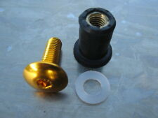 Screen Bolt Kit, gold anodised, 8 bolts, for Aprilia RSV 1000 Mille,1998- 2003