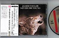 JAMES TAYLOR Never Die Young  JAPAN CD w/OBI 32DP-5069 '88 1st press