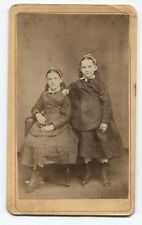 RARE ANTIQUE CDV YOUNG SISTERS. PLEASENTVILLE AND MILLERSTOWN, PA.