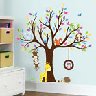 Monkey Owl Animals Tree Removable Vinyl Stickers Wall Decal Kids Room Home Decor
