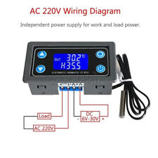 10a Digital Lcd Display Thermostat High Precision Temperature Controller Dc6 30v