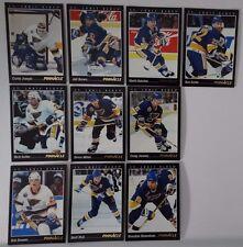1993-94 Pinnacle St. Louis Blues Team Set of 10 Hockey Cards