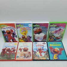Sesame Street DVD Lot of 8 Elmo's World Adventures of Elmo Kids' Favorite Songs