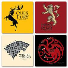 Game Of Thrones - House Coaster Set  - 4x4