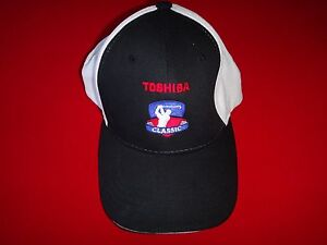 TOYOTA GOLF CLASSIC Black/White Ball Hat With Adjustable Back