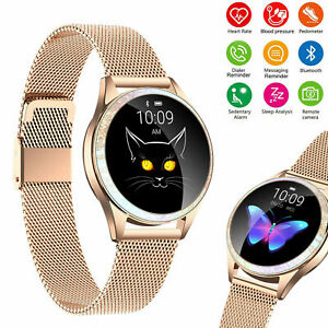 Luxury Women Girl Smart Watch Bluetooth Heart Rate Physiological Fitness Tracker