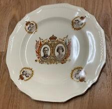 King George VI Queen Elizabeth Canada Visit Plate 1939 Alfred Meakin England