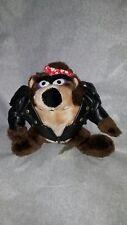 Vintage 1993 24k Warner Bros. BIKER TAZ TASMANIAN DEVIL Stuffed Plush Animal TOY