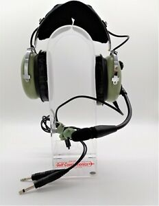 USED David Clark H10-13.4 Aviation Standard Mono Headset- Dual Plugs 40411G-01