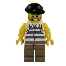 LEGO Minifigure - City - PRISONER (Torn Off Sleeves & Black Knit Cap) - Mint Min