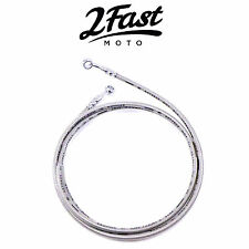 "2FastMoto 71-1/4"""" Braided Stainless Steel Brake Line Extended Swingarm Suzuki"
