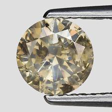 Lustrous 1.13 Ct 100% Untreated Natural Round Greenish Yellow Diamond