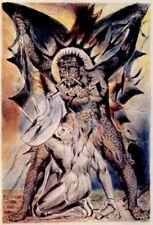 William BLAKE Il cristiano combatte appollyon Satana Diavolo Demone 7x5 pollici stampa