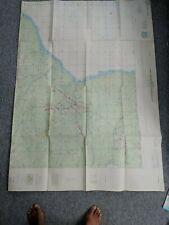 RAF TOPOGRAPHIC NAVIGATION CHART LARGE FOLDOUT MAP LOWER ZAMBEZI AFRICA