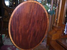 original antique american tilt top breakfast table mahogany with maple band 1770