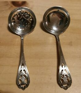 A Pair Of Scottish Silver Spoons Sifter And Other Edinburgh Francis Howard