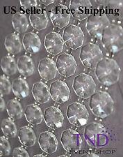 ACRYLIC CRYSTAL GARLAND STRAND CHAIN HANGING DIAMOND BEAD/WEDDING TREE DECOR