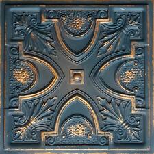 Faux Tin Decorative Ceiling Tile TD11 Graphite Gold glue /drop in 10 pcs.~40sqft