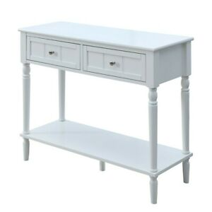 Convenience Concepts French Country Two Drawer Hall Table, White - 6050419W