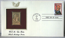 First Day of Issue W.E.B. DuBois Black Heritage Series 22kt Gold Stamp #91