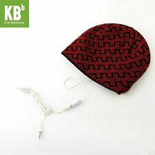 Knit BonBons Fashionable Red Winter Soft and Cozy Zipper-Design MP3 Hats
