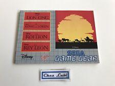 Notice - The Lion King / Le Roi Lion - Sega Game Gear - PAL EUR