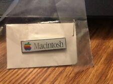 Vintage Apple Computer Macintosh Rainbow Logo Lapel Pin Pinback Sealed 1980's