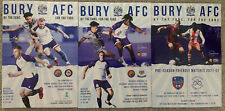 More details for 3 x bury home programmes 2021/22 mint