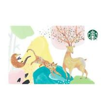 NEW 2018 STARBUCKS TAIWAN COFFEE GIFT CARD ECO CONSERVATION ANIMAL FREE SHIPPING