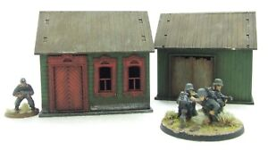 'RUSSIAN HOUSE & BARN' - 28mm  - ASSEMBLED MDF & PAINTED TO COLLECTOR'S STANDARD