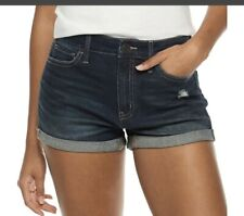 SO Junior's Size 7 Rolled Cuff High Rise Shortie Shorts NWT