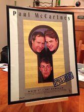 "BIG 11X14 FRAMED & LAMINATED PAUL McCARTNEY ""SPIES LIKE US"" 45 SINGLE PROMO AD"