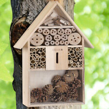 CADOCA Insektenhotel XXL Insektenhaus Brutkasten Holz Insekten Bienen Hotel 48cm
