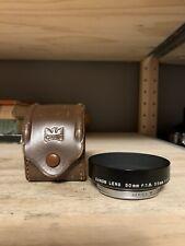 Canon Metal Lens Hood SERIES VI for 50/1.8 35/2.8 35/3.2 LTM L39 Excellent Black