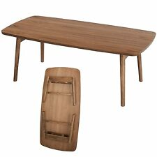 Folding Leg Center Coffee Table Storage Portable Walnut TAC-229WAL AZUMAYA Japan