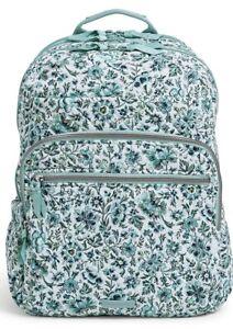 MSRP $130 Vera Bradley Iconic Trolley Sleeve Campus XL Backpack - Cloud Vine