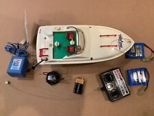Nikko Rare Vintage Tide Rider Radio Cont. Speed Boat with 2 NiCad Battery Packs
