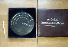 RARE ANTIQUE THE BRICAL MONEY CALCULATING MACHINE GOOD CONDITION BOXED