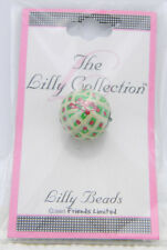 New Old Stock Lilly Collection Lilly Beads Green Pink Polka Dot Beads (3 Pack)