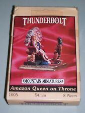 Thunderbolt Mountain Miniatures 1005 Amazon Queen on Throne 54mm