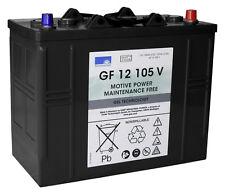 2 x Gel Akku/Batterie 12V / 105 Ah für Columbus Reinigungsautomat RA 55 B 40
