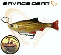 Savage Gear Fishing Lures 4D Line Thru Pulse Tail Roach 18cm READY TO FISH Pike